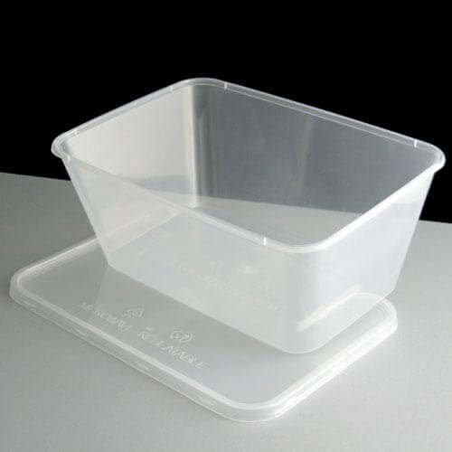 Clear Rectangular Plastic Container and Lid