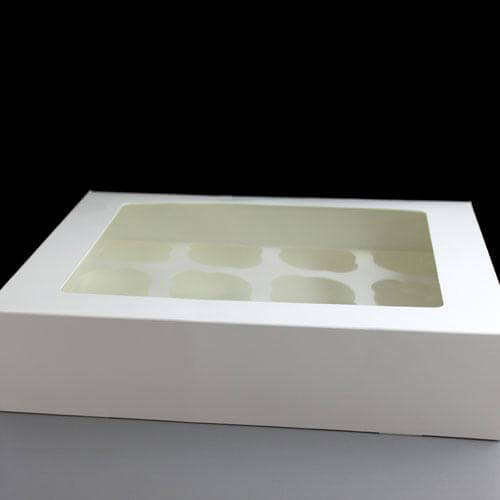 White Windowed Cupcake Boxes White Windowed Cupcake Boxes