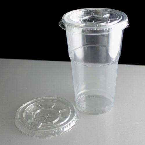 Clear Plastic Cups With Lids : Clear flat lid to fit oz smoothie cups