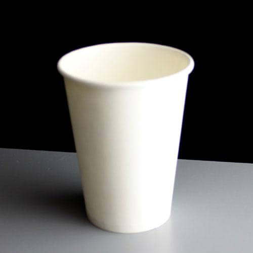 White 12oz Plain Paper Coffee Hot Drink Cups