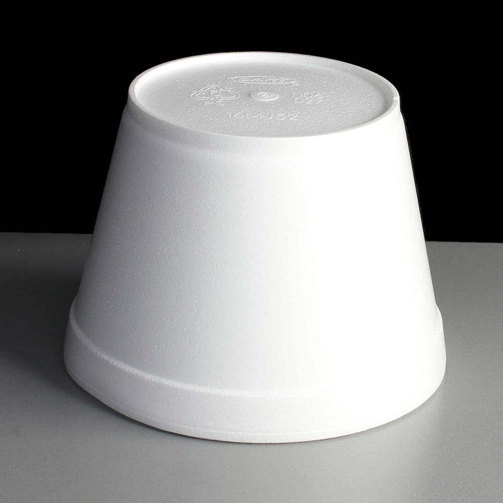White 16oz Polystyrene Foam Deli Pots