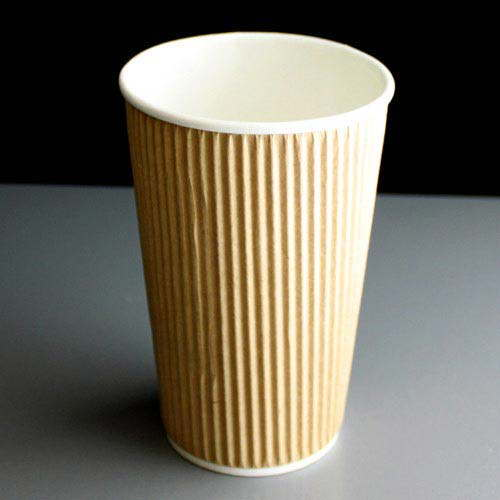 Kraft 16oz Rustic Insulated Paper Tea And Coffee Cup