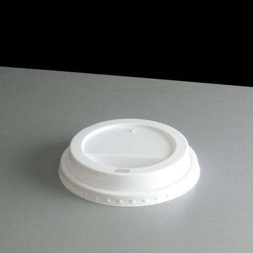 White Domed Sip thru Lid To Fit 8oz Paper Coffee Cups