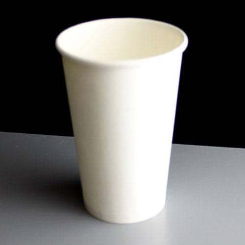 16 oz. White Paper Coffee Cups & Lids