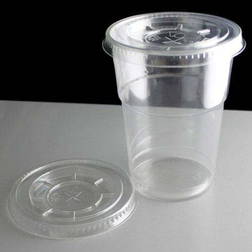 Plastic Cups With Lids : Clear flat lid to fit oz smoothie cups