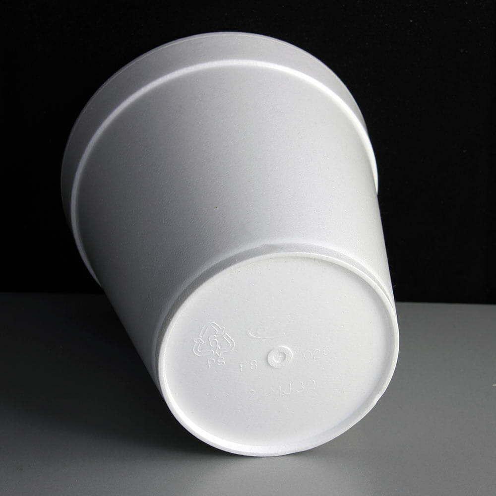 White 24oz Polystyrene Foam Deli Pots