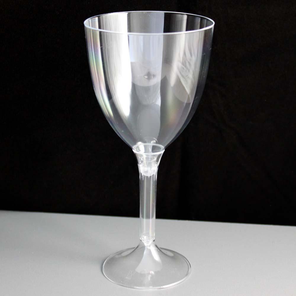 Large 2 Piece Plastic Wine Glass