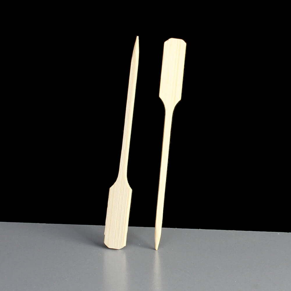 Wooden Bamboo Paddle Skewer 90mm