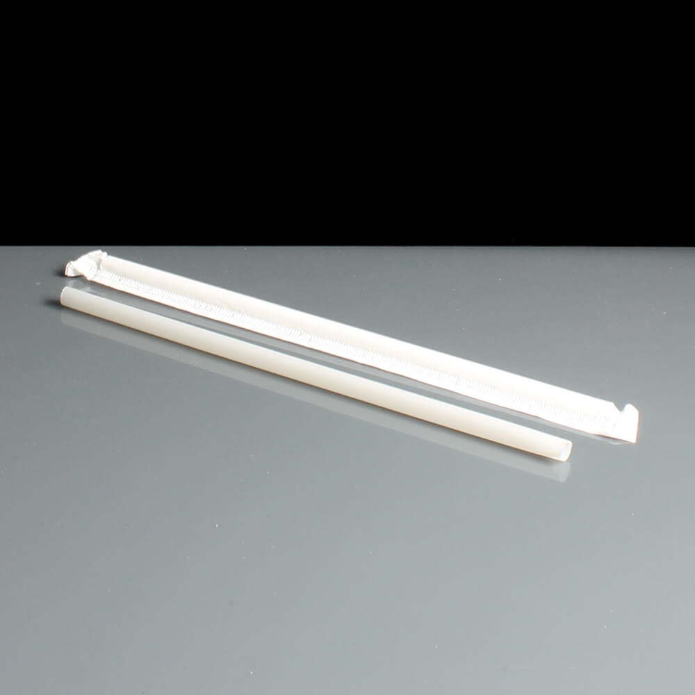 Naturelle 6mm Wrapped PLA Compostable Straight Straws