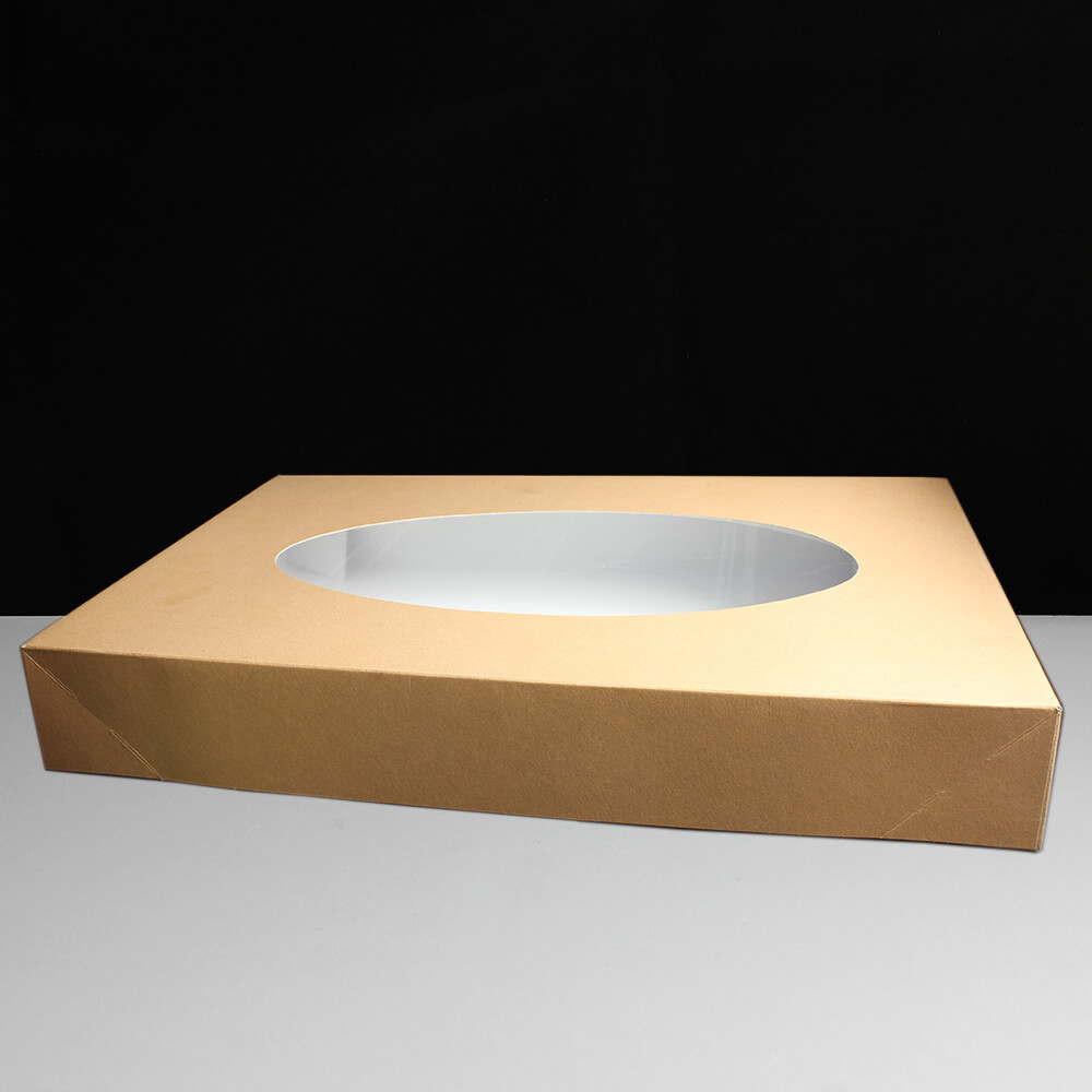 Biodore Catering / Cake Box with Window 550 x 370 x 80mm - Kraft
