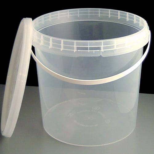 5l Clear Tamperproof Bucket Amp Clear Lid 25