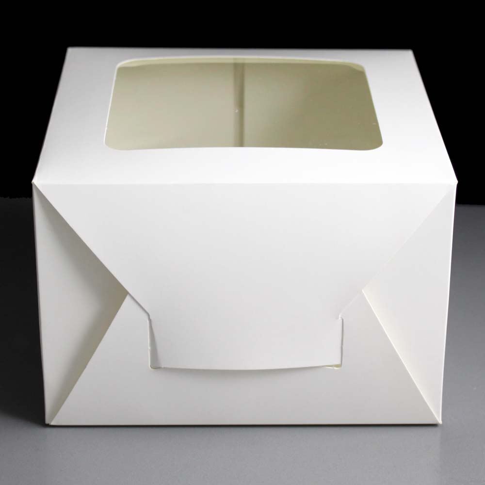 50 Folding Window Cake Boxes 8 X 8 X 5