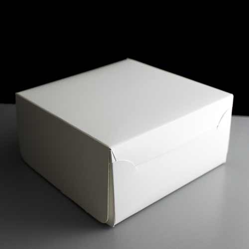 Folding White Card Cake Box 6 x 6 x 3 (250)