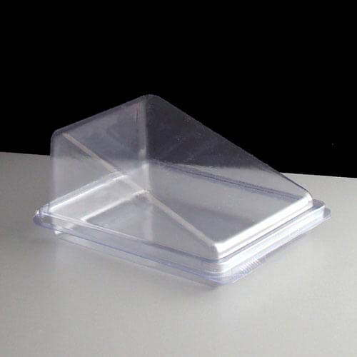 Plastic Hinged Cake Wedge Box Of 500