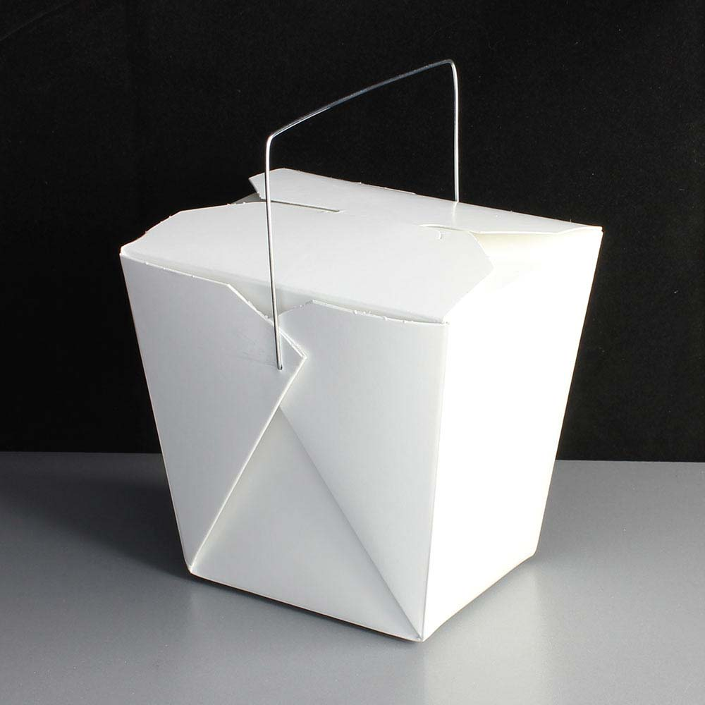 large white 26oz noodle box with wire handle. Black Bedroom Furniture Sets. Home Design Ideas