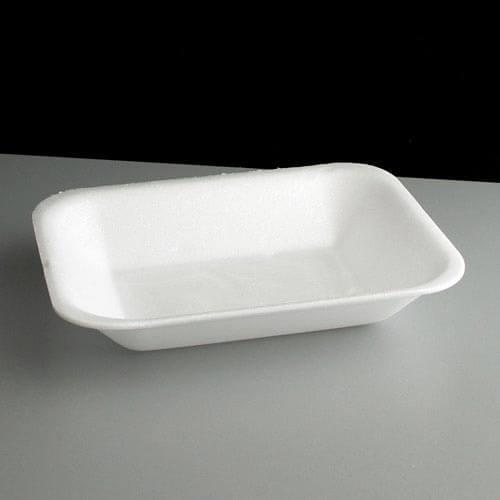 White Polystyrene Chip Tray
