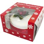 Windowed Christmas SNOWFLAKE Cake Boxes 8x8x5