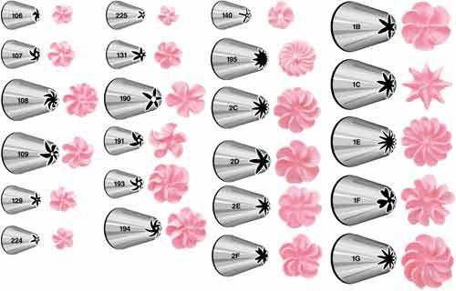 Wilton 402-1006 Drop Flower Decorating Tip Silver