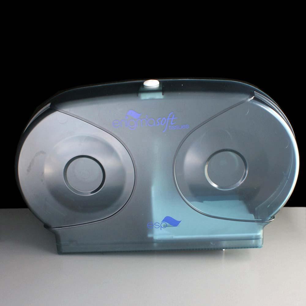 Micro Jumbo Twin Toilet Roll Dispenser Blue