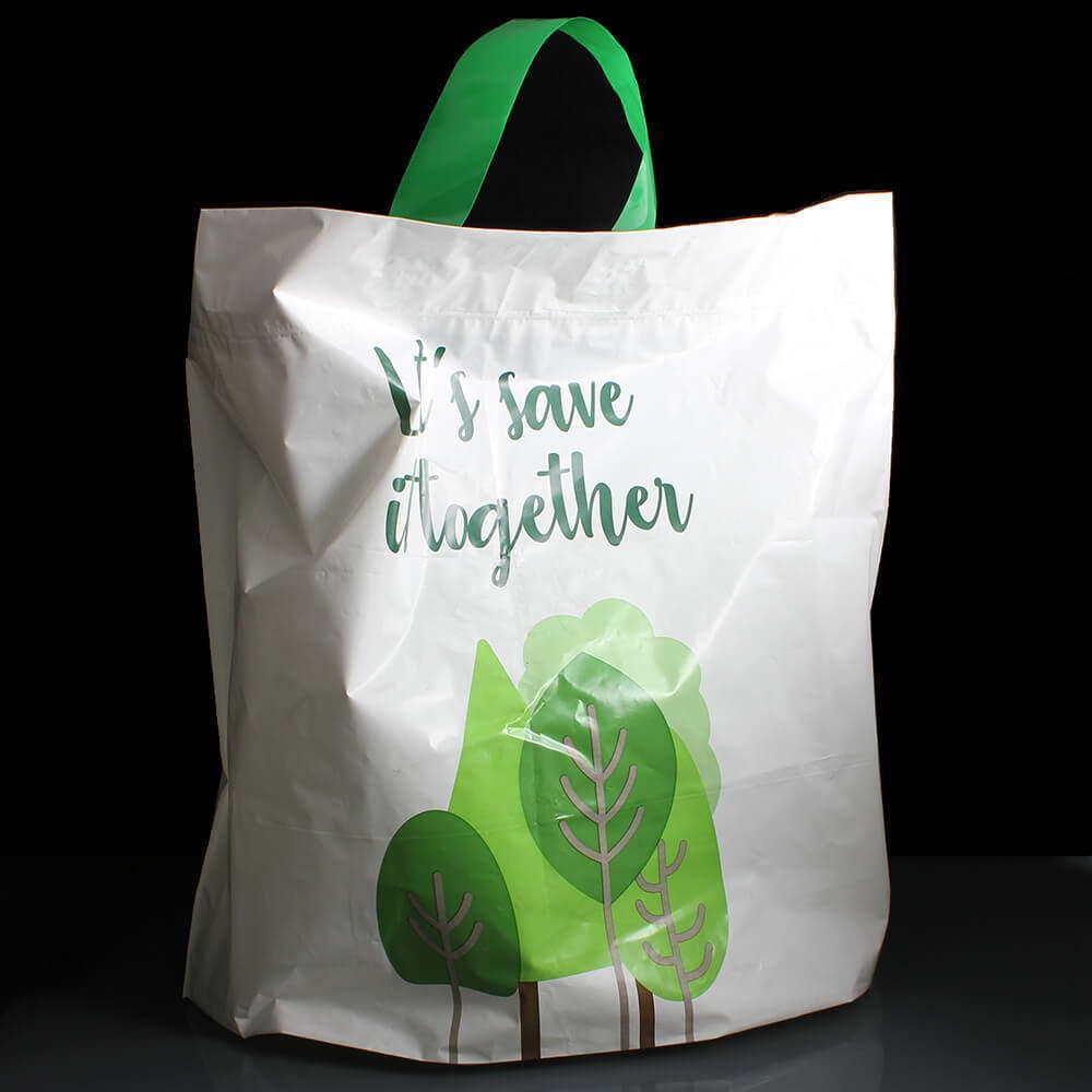 Reusable Plastic Carrier Bag - Lets Save it Together