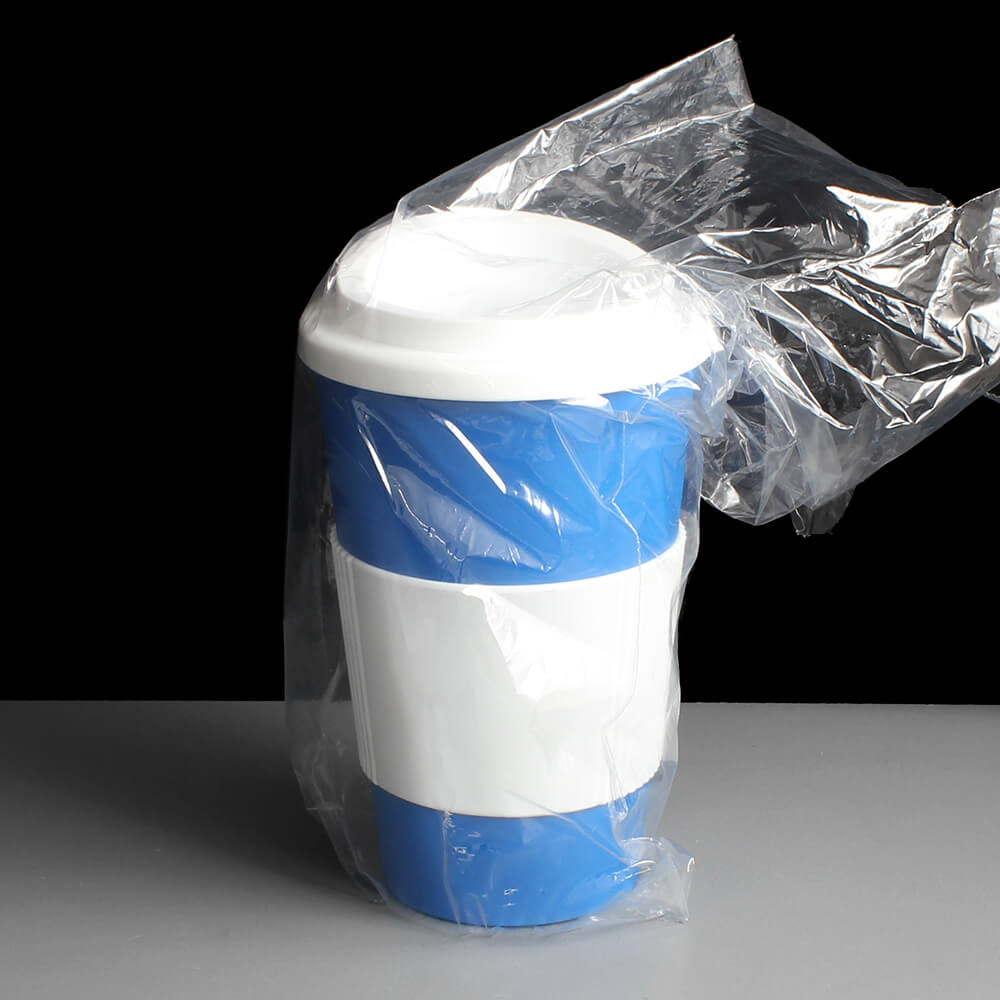 Blue 35cl Reusable Travel Tea And Coffee Mug With Sleeve