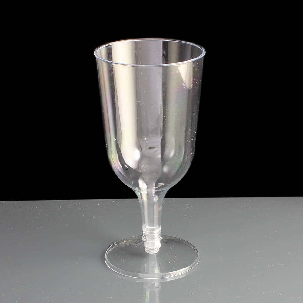 190ml 2 piece plastic wine glasses