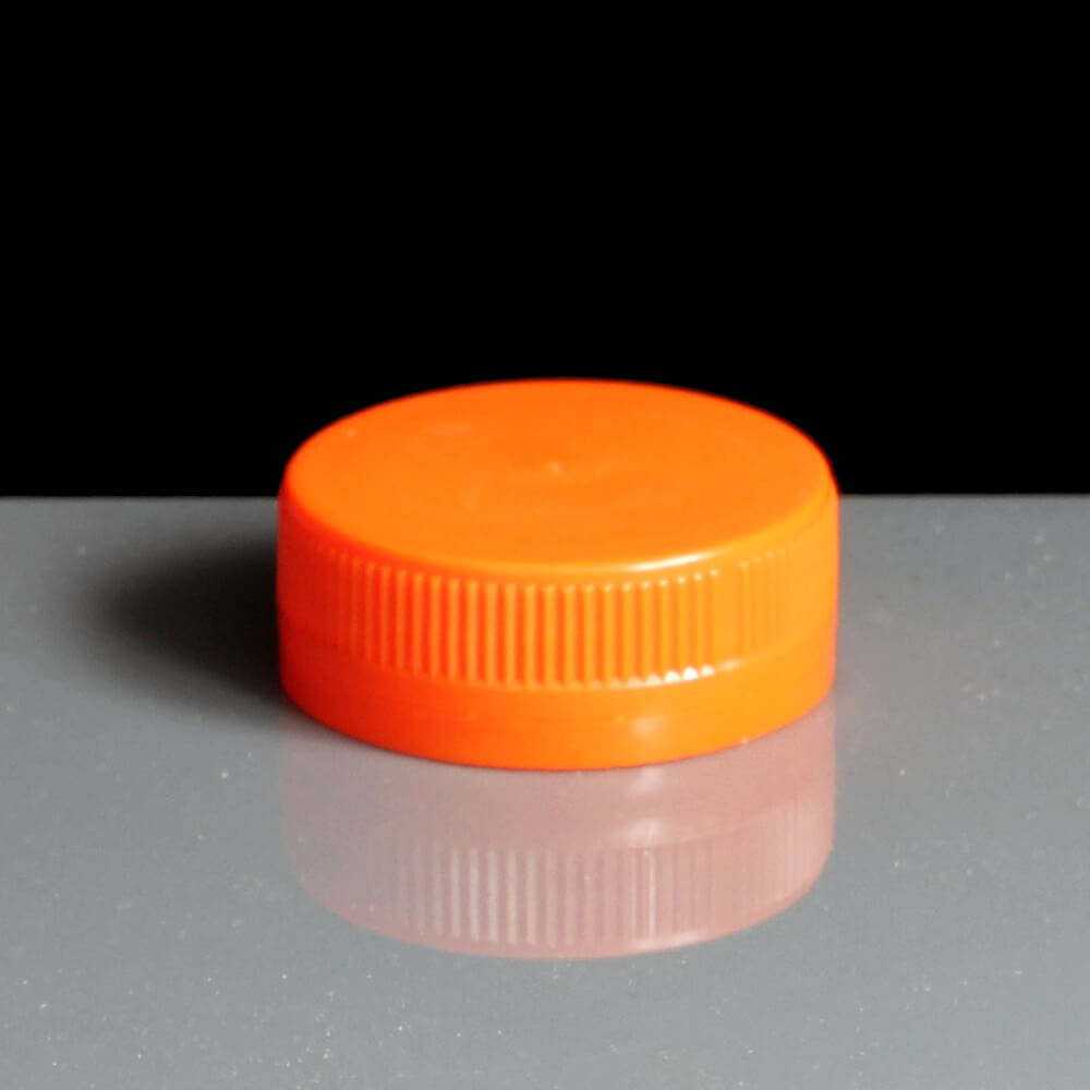 Tamper Evident Orange Round Juice Bottle Lid