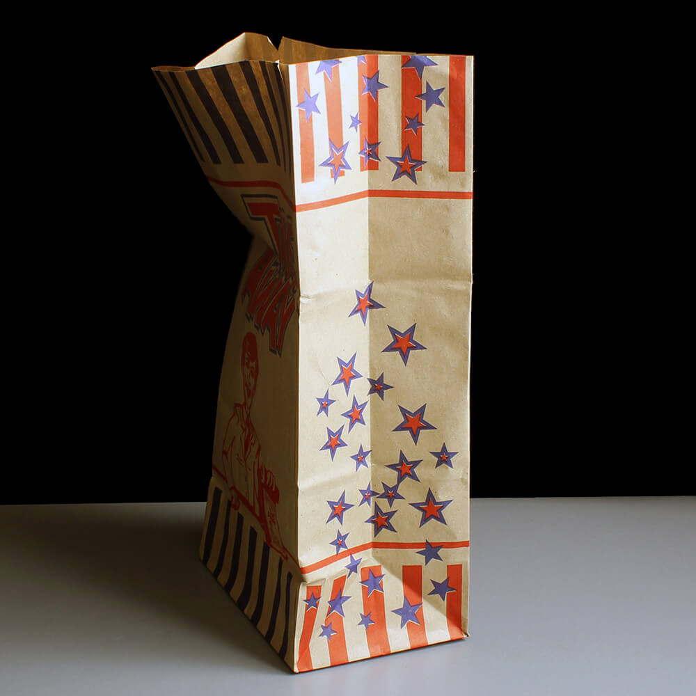 50 SOS Paper Bags White Small 18cm x 23cm x 9cm Takeaway Restaurant Foods