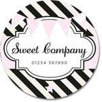 Custom Round Gloss Label - Sweet Company 1 (Roll of 25)
