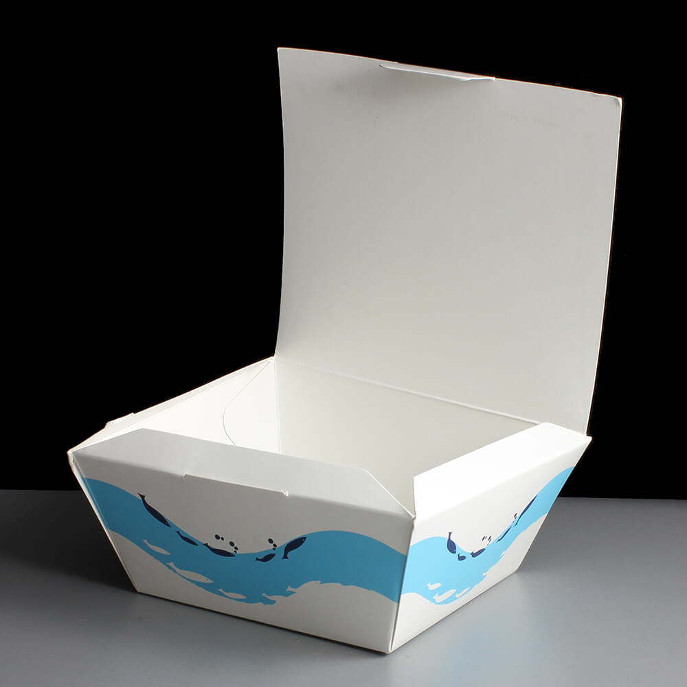 small white tasty square fish and chip box 50. Black Bedroom Furniture Sets. Home Design Ideas