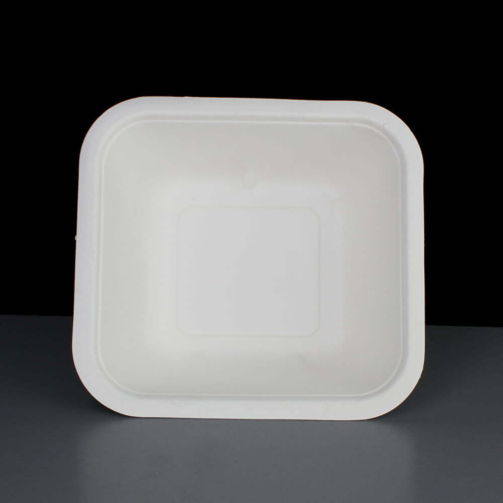 Biodegradable 32oz V4 Square Gourmet Food Container Base