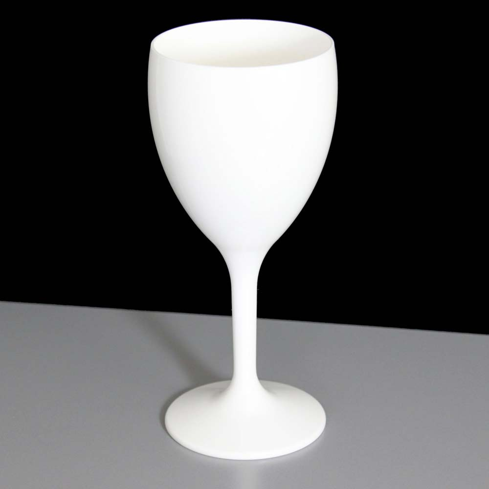 White plastic wine glasses for Glass or acrylic