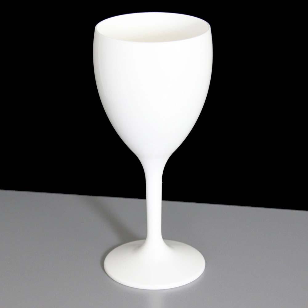 White Plastic Wine Glasses