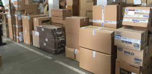 Packages waiting dispatch