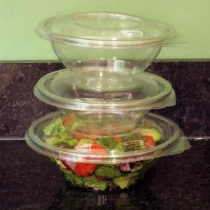 Stacked Contour Salad Bowls