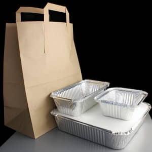 Aluminium foil take away kit