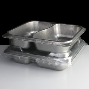 Stackable airPET ready meal packaging