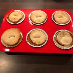 Mince pies out of the oven