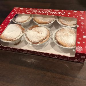 Mince Pies Cardboard Box Merry Christmas