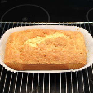 Banana loaf cake ready