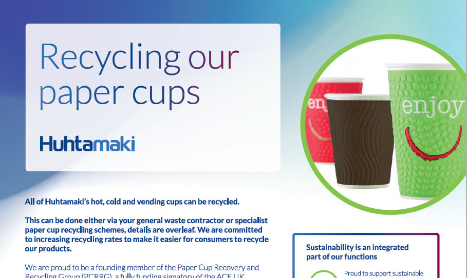 Huhtamaki Recycling Paper Cups