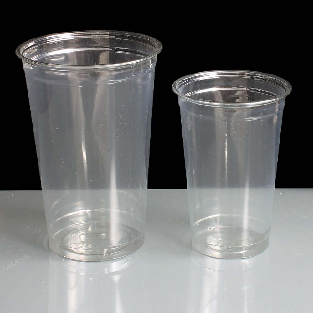 PET Pint and Half Pint Plastic Glasses