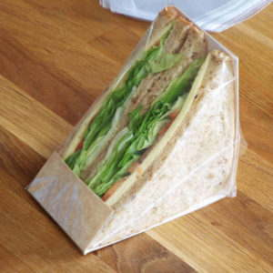 Tri cut sandwich packaging kit