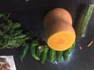 Squash and courgettes