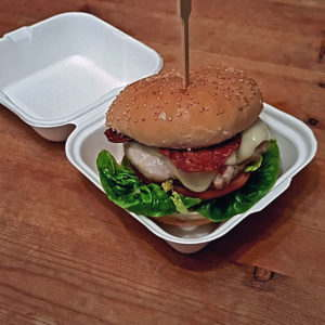 Bagasse Packaging with Burger