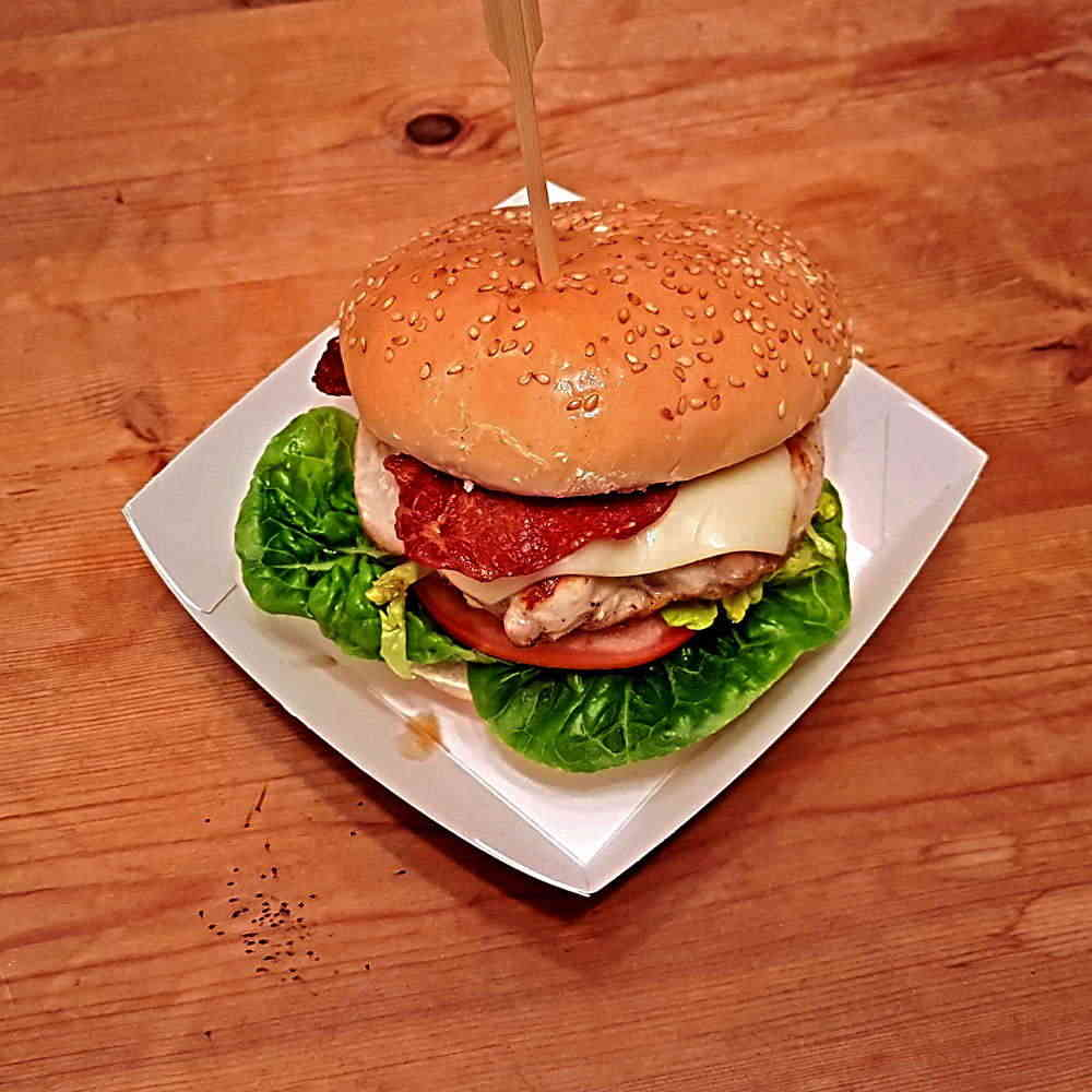 HP5BFT black tray with Burger