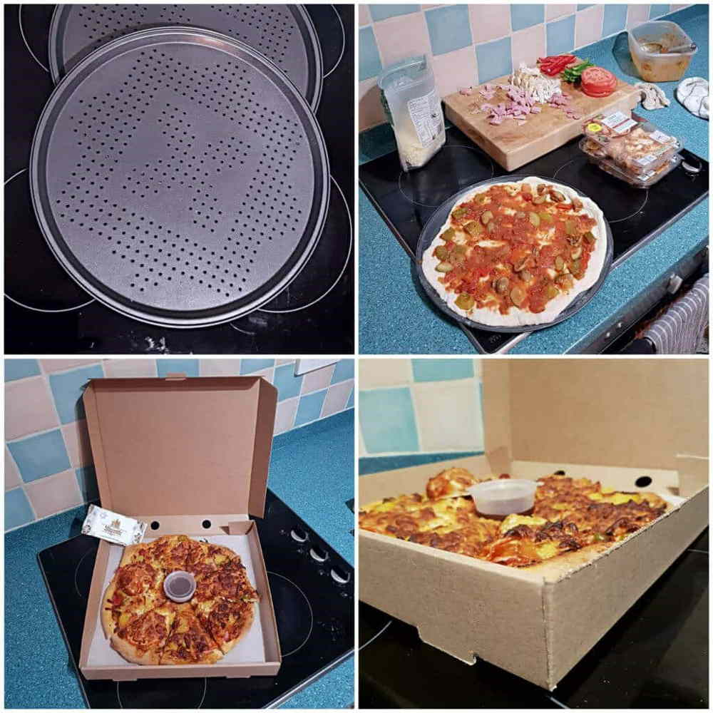 Pizza bases and pizza boxes