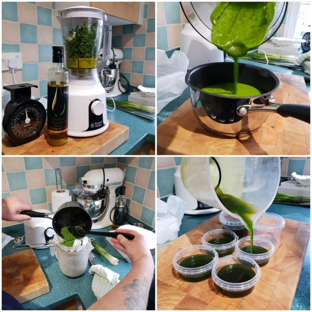 Parsley Oil Stored in Tamper Evident Pots