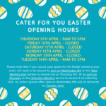 Easter Opening Hours 2020